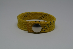Hockey Lace Bracelet - Yellow