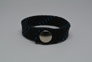 Hockey Lace Bracelet - Black