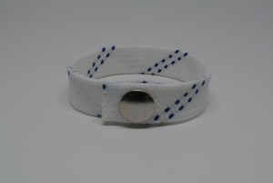 Hockey Lace Bracelet - White