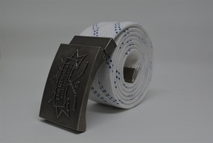 The Original Hockey Lace Belt - White