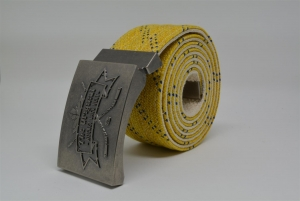 The Original Hockey Lace Belt - Yellow