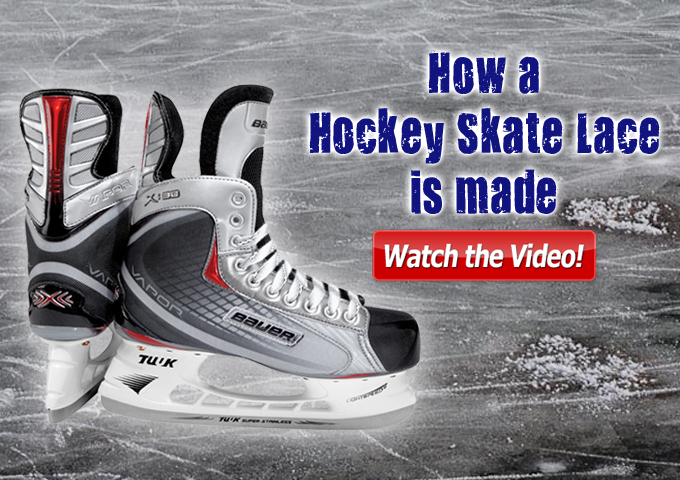 How a Hockey Skate Lace is Made